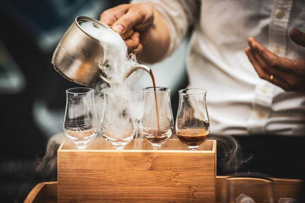 barista, coffee, pouring